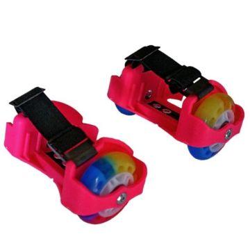 Ролики на обувь Moby Kids со светящимися колёсами (Розовый)