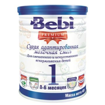 Сухая молочная смесь Bebi Premium 1 в банке (0-6 мес.) 400 г