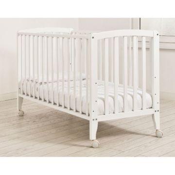 Кроватка детская Angela Bella Бьянка (колесо) (белый)