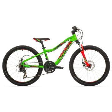 """Велосипед Rock Machine Storm 24"""" (Зеленый-красный-черный)"""