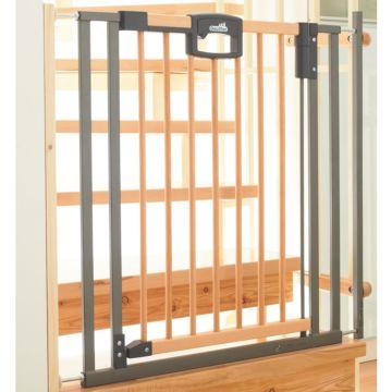 Ворота безопасности Geuther Easy Lock Wood 84.5-92.5 см (серебро)