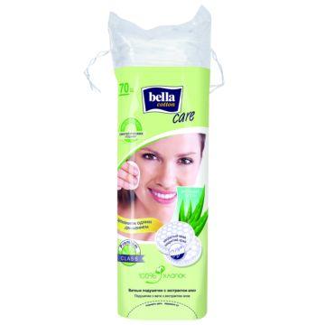 Диски ватные Bella Cotton Care с экстрактом алоэ 70 шт