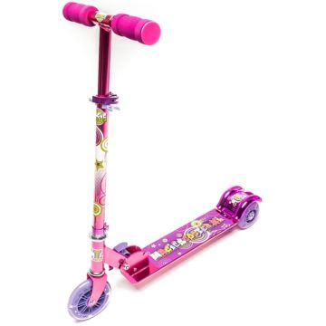 Самокат TechTeam Magic Scooter XL со светящимися колесами (розовый)