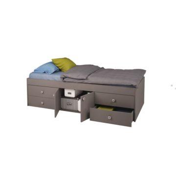 Кровать детская Polini Simple 3100 (серая)