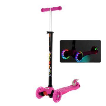 Самокат Vinca Sport Maxi со светящимися колесами (розовый)