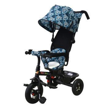 Трехколесный велосипед Babyhit Kids Tour XT с надувными колесами (бело-синий)