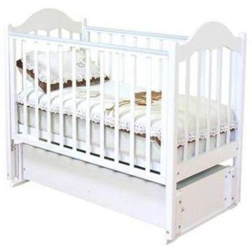 Кроватка детская Можга Кармелина (продольный маятник) (белый)