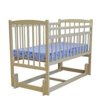 Кроватка детская Массив Беби 3 (продольный маятник) (слоновая кость)