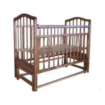 Кроватка детская Saidov Лаура 5 (поперечный маятник) (итальянский орех)