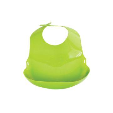 Нагрудник Lubby С отворотом пластиковый (Зеленый)