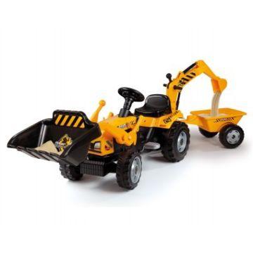 Трактор на педалях Smoby (желтый)