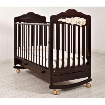 Кроватка детская Angela Bella Изабель (качалка-колесо) (махагон)