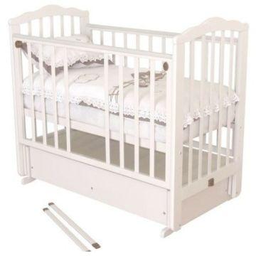 Кроватка детская Можга Элина (поперечный маятник) (слоновая кость)