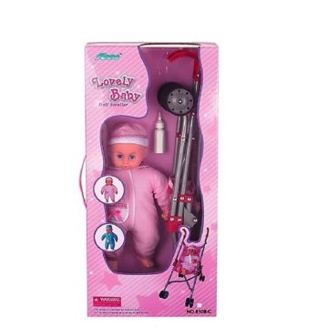 Коляска для куклы + Кукла Fei Li Toys FL8108-C