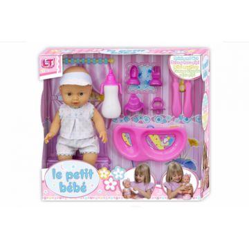 Кукла Loko Le Petit Bebe со столовыми принадлежностями