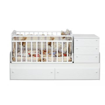 Автоматическая кровать трансформер Daka Baby Укачай-ка 05 с механизмом (Белый)