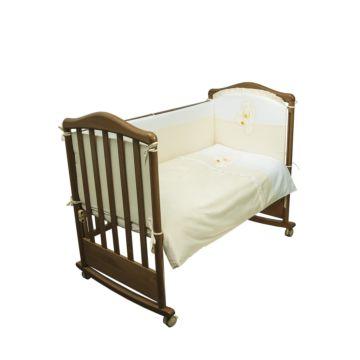 Комплект постельного белья Сонный Гномик Пушистик 120х60см (7 предметов) бежевый