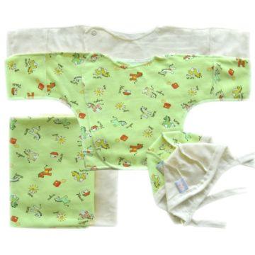 Комплект одежды для малыша Little People принт 6 пр. (зеленый)