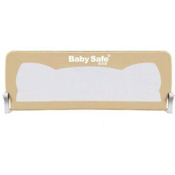 Барьер безопасности для кроватки Baby Safe Ушки 180х42см (Бежевый)