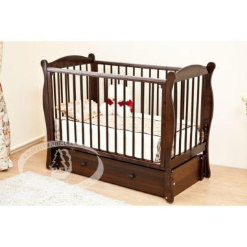 Кроватка детская Можга Уралочка С742 (продольный маятник) (шоколад)