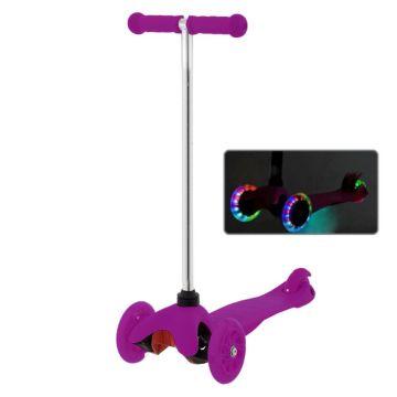 Самокат Sulov Mini со светящимися колесами (фиолетовый)