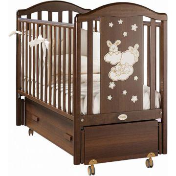 Кроватка детская Feretti Romance Swing (продольный маятник) (орех)