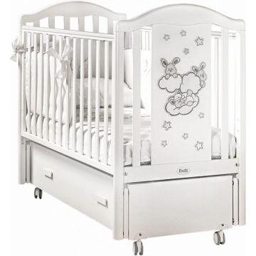 Кроватка детская Feretti Romance Swing (продольный маятник) (белая)