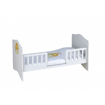 Барьер безопасности Polini для кроватки Simple/Basic (140х70см) (белый)