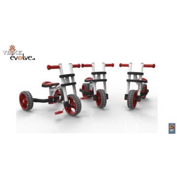 Беговел-трансформер Y-Bike Evolve Trike (красно-белый)