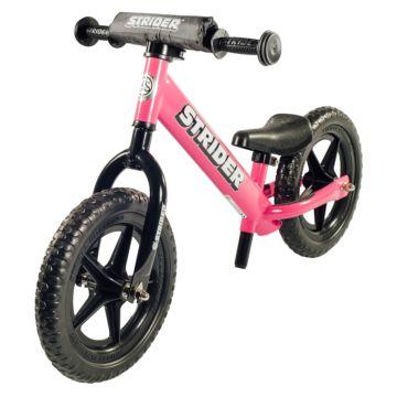 """Беговел Strider 12"""" Sport (с удлиненным штырем для седла в комплекте) (розовый)"""
