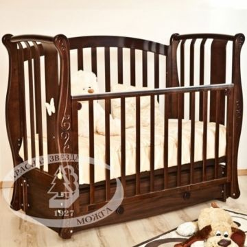 Кроватка детская Можга Ярослава С551 (продольный маятник) (шоколад)