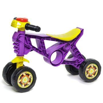 Беговел-мотоцикл RT Самоделкин ОР171 с клаксоном 4 колеса (фиолетовый)