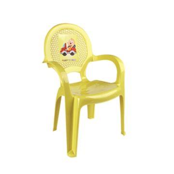 Стульчик детский Dunya Plastik (желтый с принтом)
