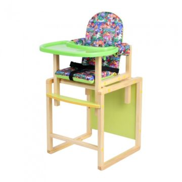 Стул-стол для кормления Вилт Джунгли (лайм)