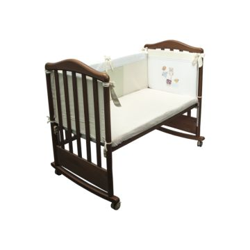 Бампер для кроватки Сонный Гномик Мишкин Пикник (фисташковый)