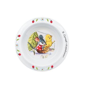 Детская тарелка Lubby Сказки В.Сутеева на присоске (Желтый)