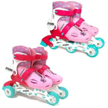 Раздвижные ролики 2-в-1 Moby Kids M (30-33) (Розовый)