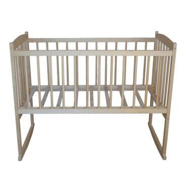 Кроватка детская Массив Беби 1 (качалка-колесо) (светлый)