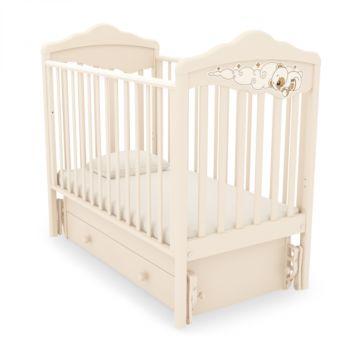 Кроватка детская Angela Bella Изабель (универсальный маятник) (слоновая кость)