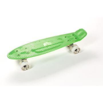 "Мини-круизер Fish Skateboard со светящимися колесами 22"" (зеленый)"