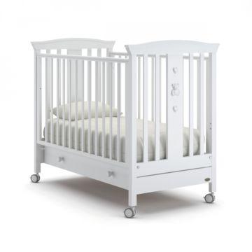 Кроватка Nuovita Fasto (колесо) (белый)