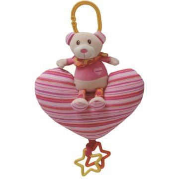 Развивающая игрушка-подвеска I-Baby Мишка на сердечке