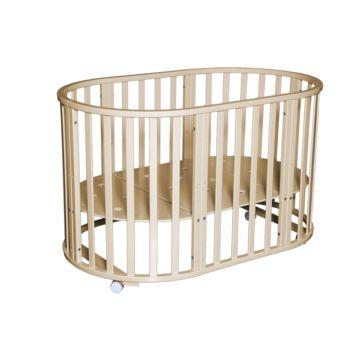 Кроватка-трансформер Антел Северянка 3.1 6 в 1 (колесо) слоновая кость