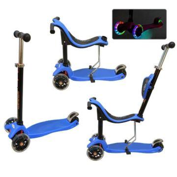 Самокат Ecoline Onex 3D со светящимися колесами (голубой)