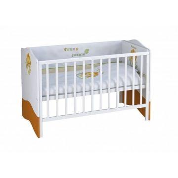 Кроватка-трансформер Polini Basic (бело-оранжевая)