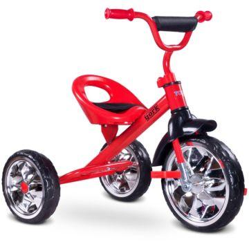 """Трехколесный велосипед Toyz York с ПВХ-колесами 10"""" и 8"""" (красный)"""