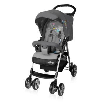 Коляска прогулочная Baby Design Mini (серая)