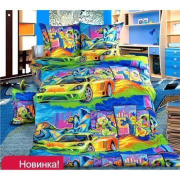 Комплект постельного белья Кроватка5 (3 предмета) (Граффити)