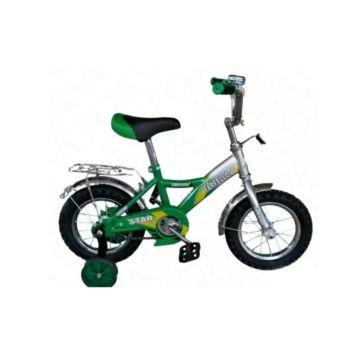 """Детский велосипед Farfello Star YF-024 12"""" (Серебристо-зеленый)"""