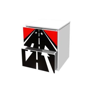 Тумба с ящиками Кроватка5 Гонка Красная 1